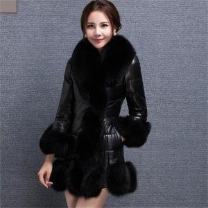 Jackets & Blazers - Woman's Faux Mink Fur Coat